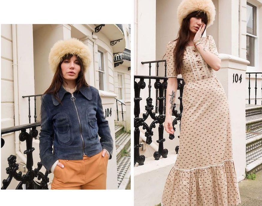 Vintage store owner Sarah Louise in Vinatge fashion