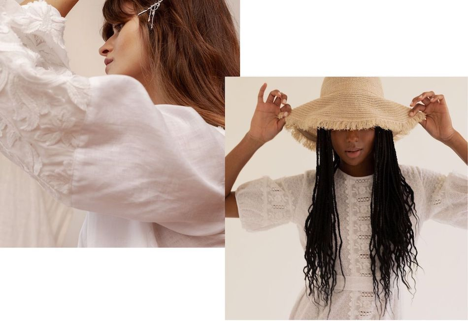 Campaing images of womens sustainable fashion label Sunshine Solomon