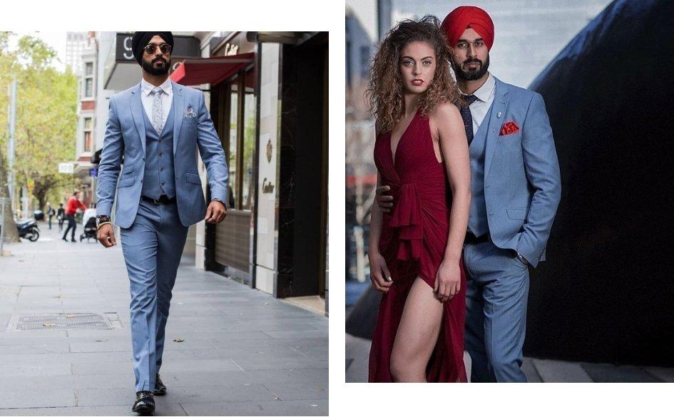 Singh's men style Instagram posts