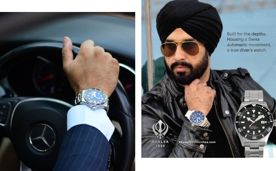 Luxe men style with Khalsa Watch
