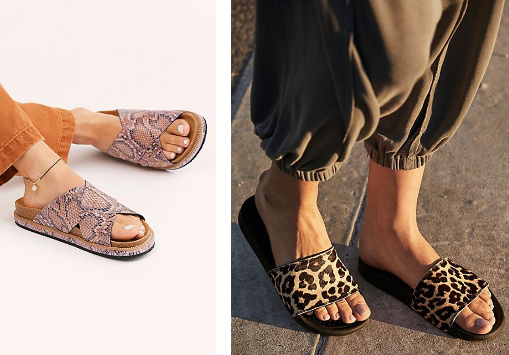 Animal print summer footwear