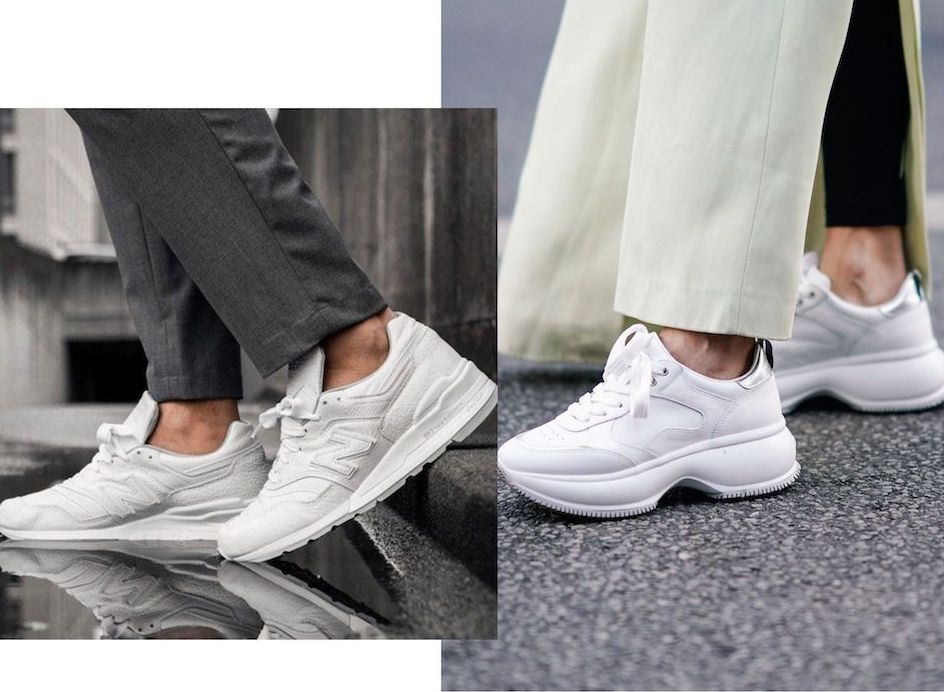 White sneakers may form oneof the basics in your capsule wardrobe
