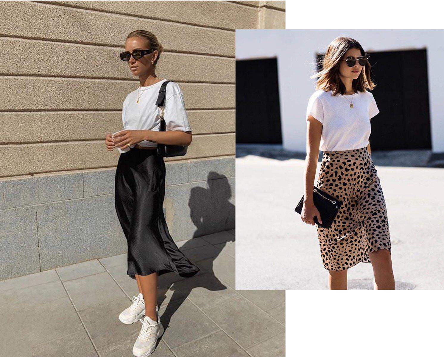 Midi Skirt Spring Street Style