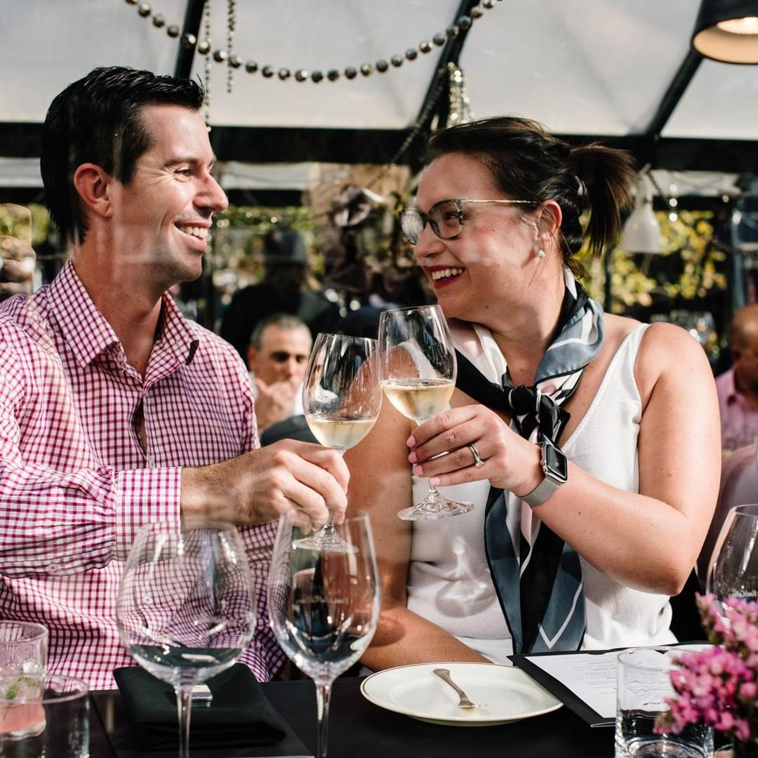 Couple attending Tasting Australia