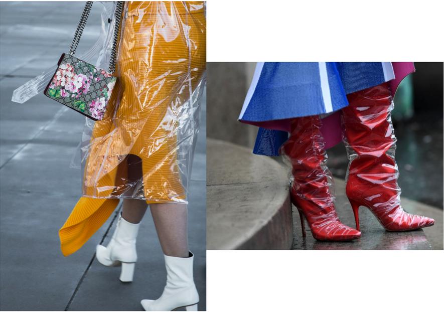 style tips and street trends - plastic rainwear
