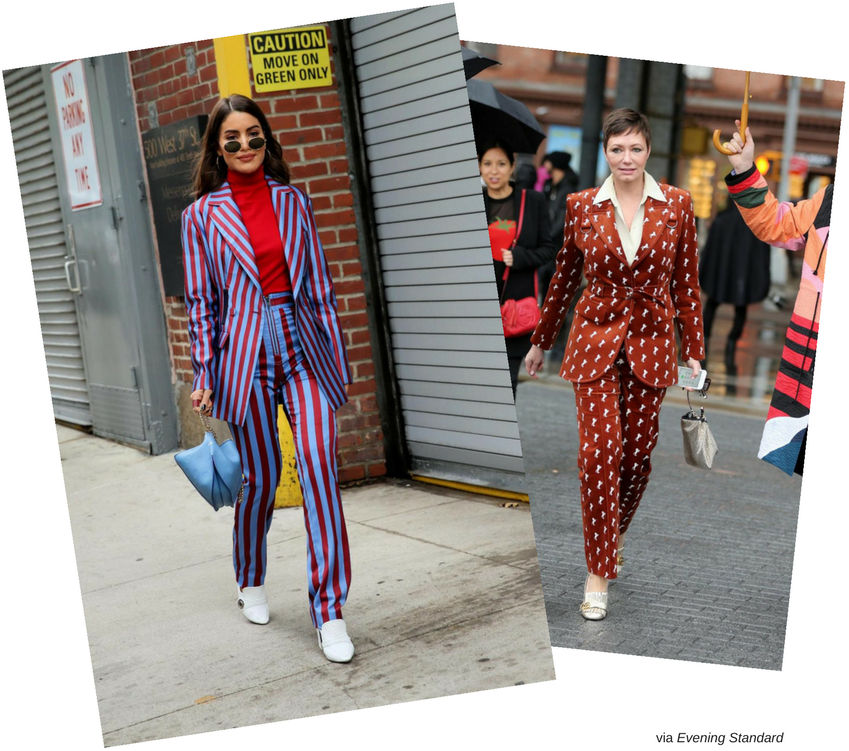 street trends - the printed suit