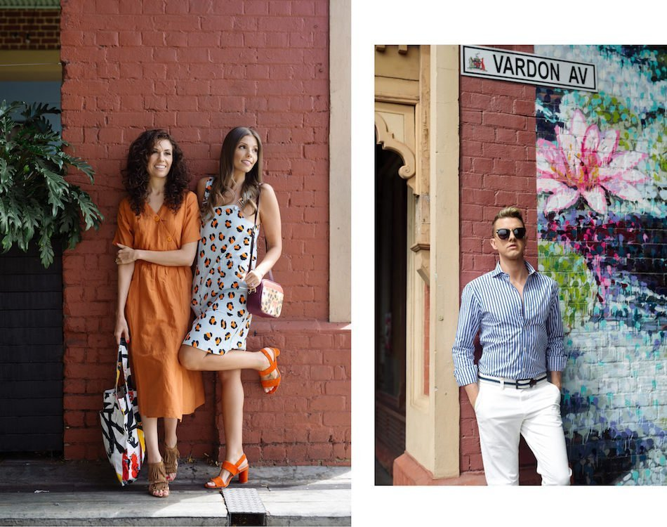 Two Brunettes and a gay modelling Gorman and M.J. Bale in Rundle Street East