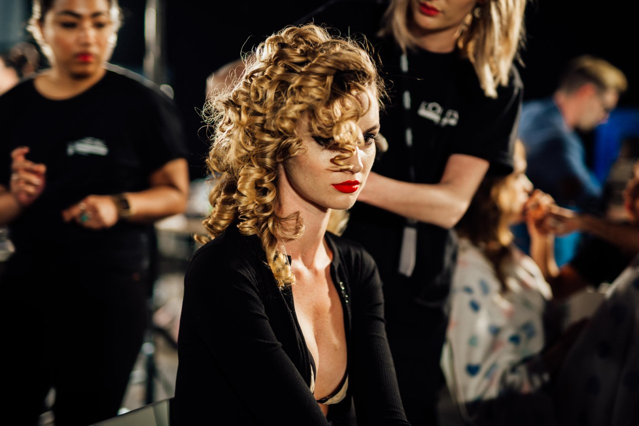Backstage at the Wheels and Dollbaby clsoing night finale at the Telstra Perth Fashion Festival 2017