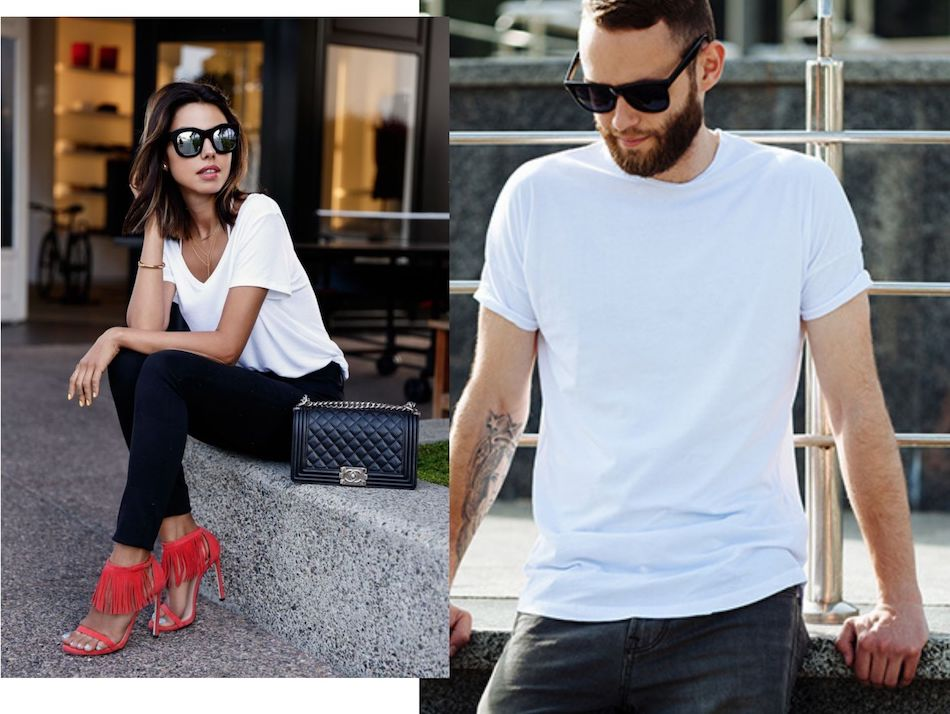 White Tees might form the basics for your wardrobe