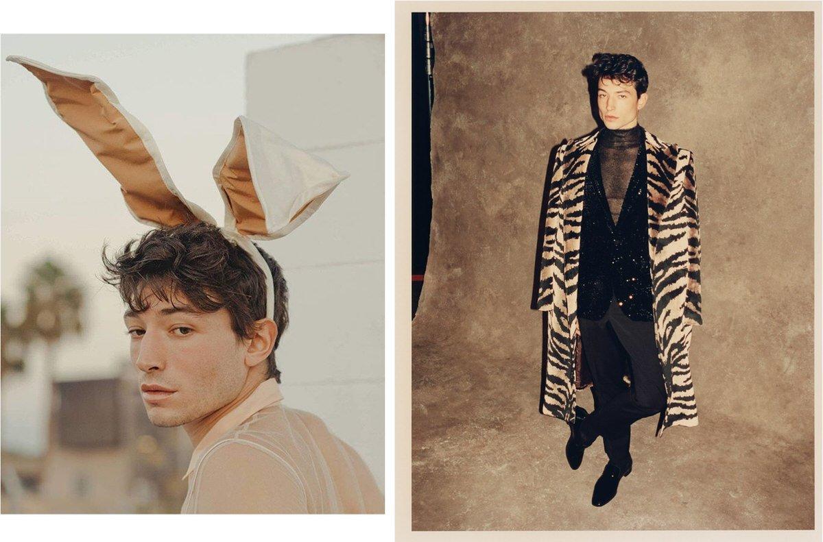 fashion and style icon Ezra Miller