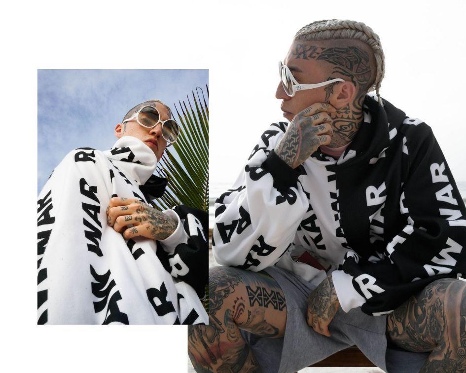 RAW WAR streetwear worn by Chris Lavish from NYC
