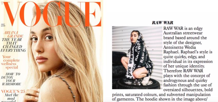 RAW WAR in British Vogue