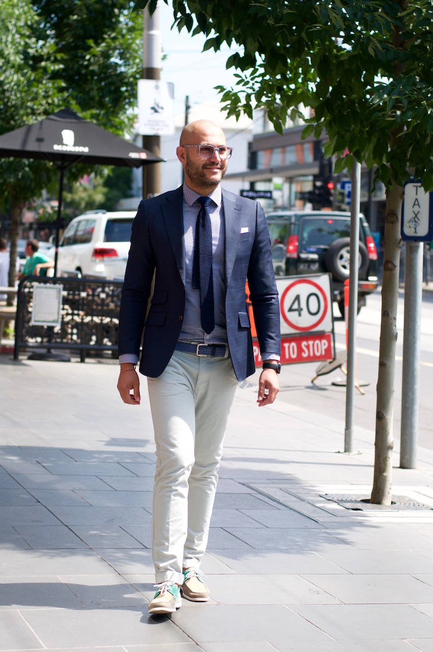 """South Yarra: Gab Piacentini, Fashion Retail, Chapel St. """"I like to create my own style. Love wearing pink and green normally."""""""