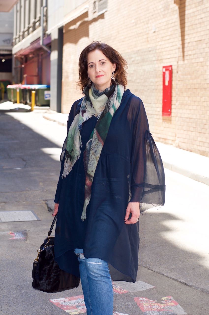 """Melbourne: Sonya, Designer, Little Collins St. """"I love the texture, quality and luxurious feel of Merino wool."""""""
