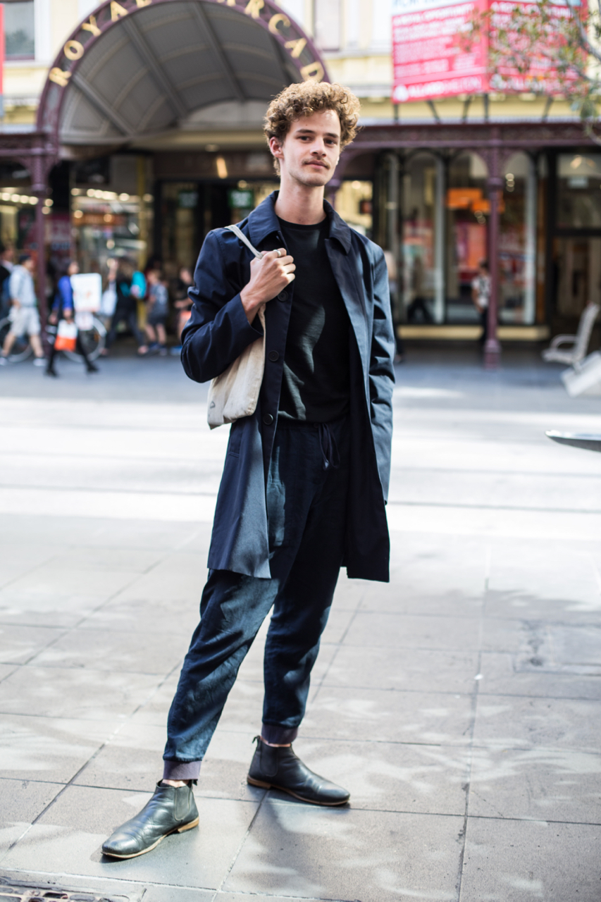 """VIC: Indra Pal, Architecture student, Bourke St. """"I mostly steal from my mum's wardrobe."""" Photo: Zoe Kostopoulos"""