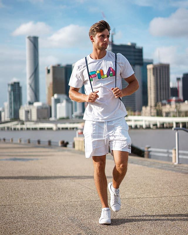 "Brisbane: Fabian Arnold, Model. ""All white."""