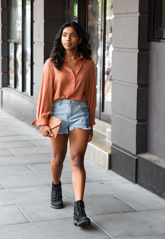 "Street Style Australia - Adelaide: Linara Attanayake, Student. ""I'm not sure what my style is."" Photo: Noura"