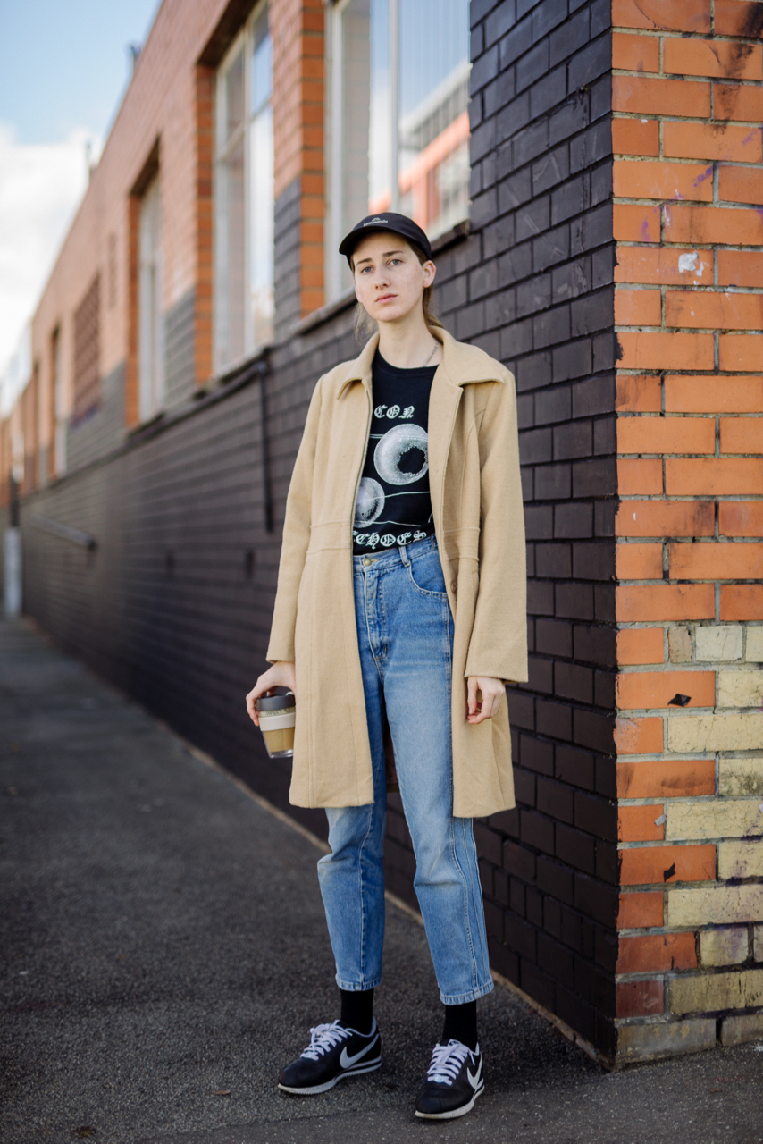 "VIC: Katherine Rose, Stylist, Albert St, Brunswick East. ""I just woke up hungover to get coffee."" Photo: Dimitra Koriozos"