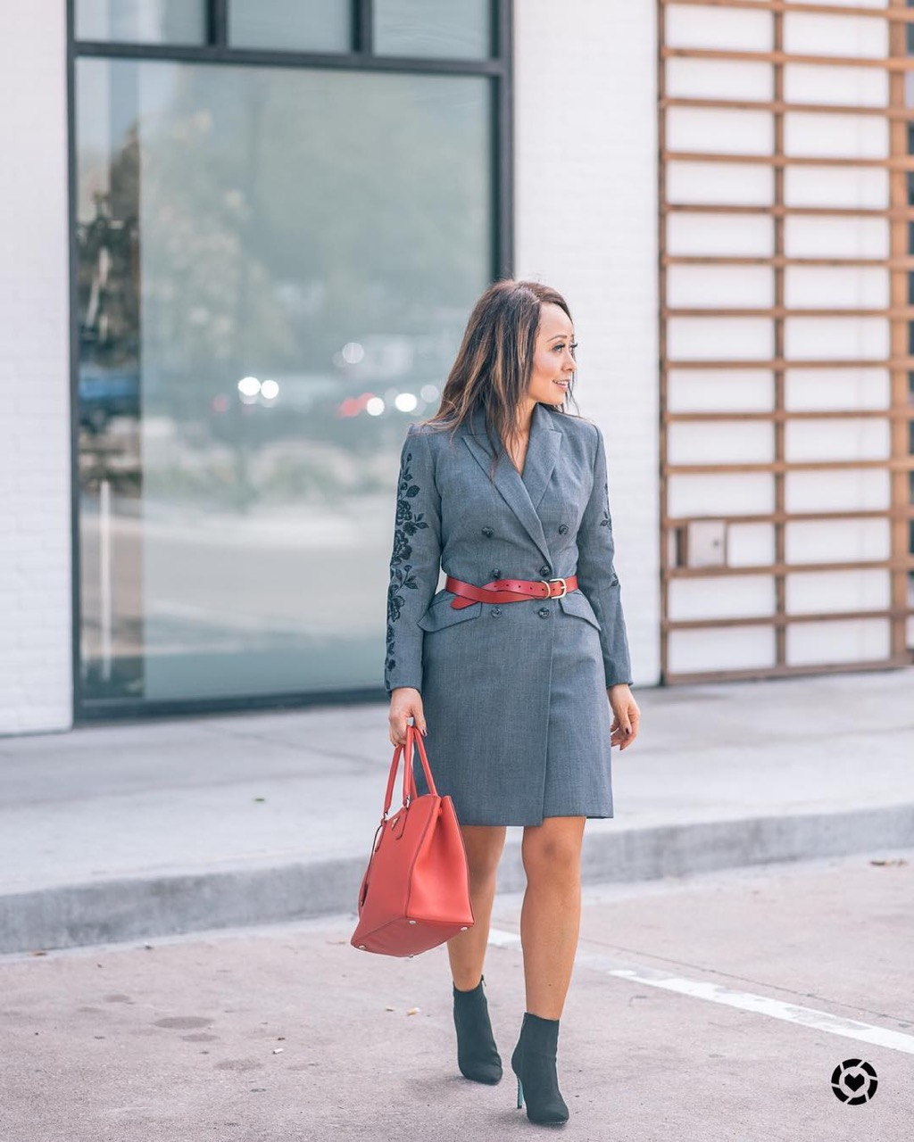 "Street Style Australia - Melbourne: Jo, Fashion Blogger, ""Obsessed with coat dresses these days"""