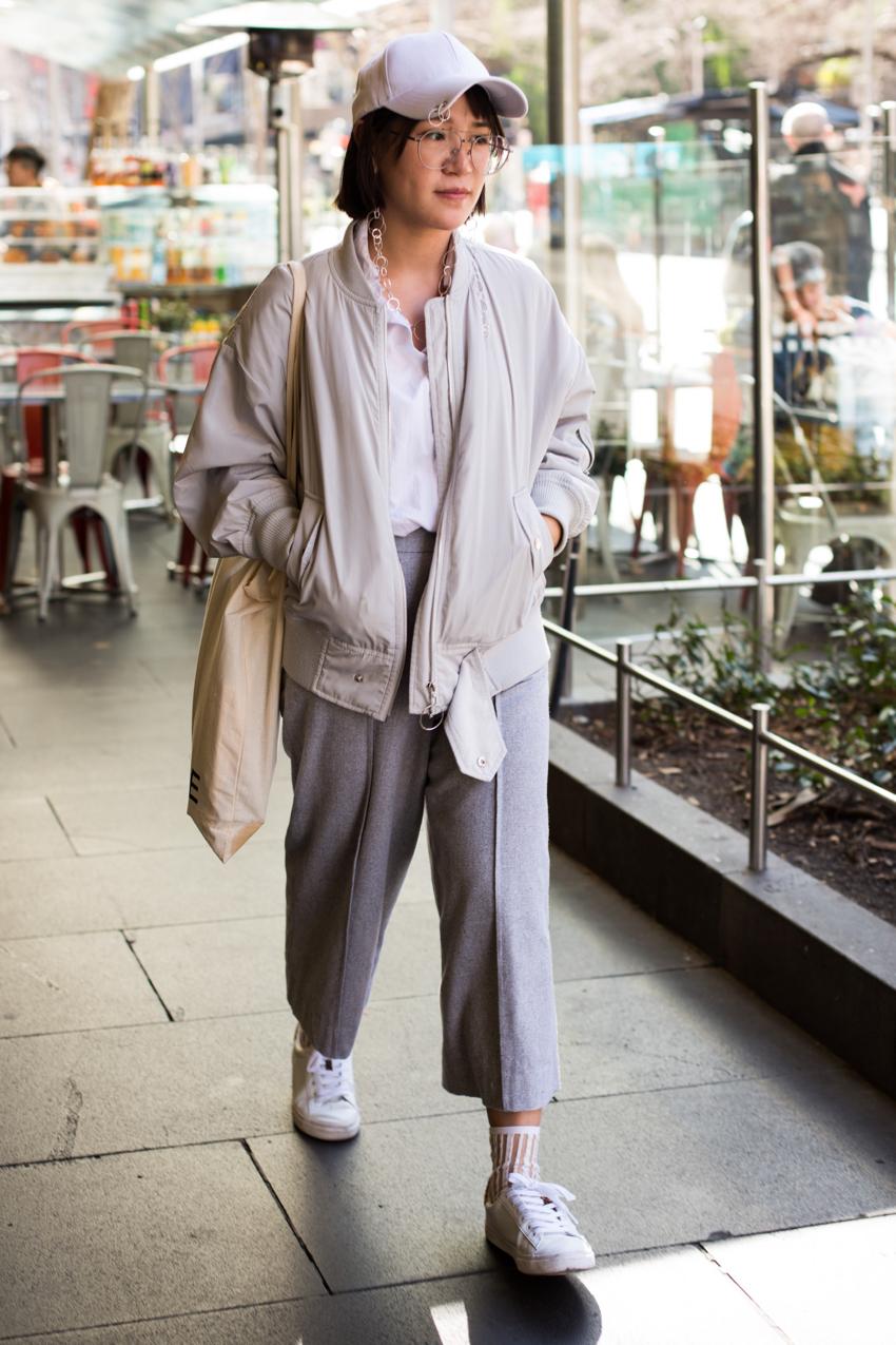 "VIC: Mirabelle, Swanston St. ""I don't do fashion, I am fashion."" Photo: Zoe Kostopoulos"