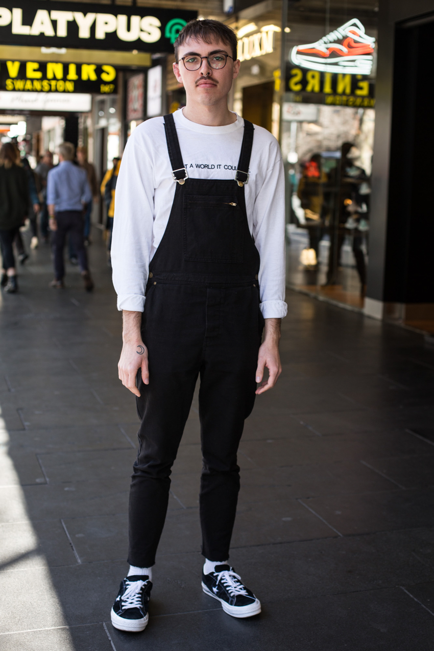 "VIC: Paris Pola, photographer, Swanston St. ""Comfy but cool."" Photo: Zoe Kostopoulos"