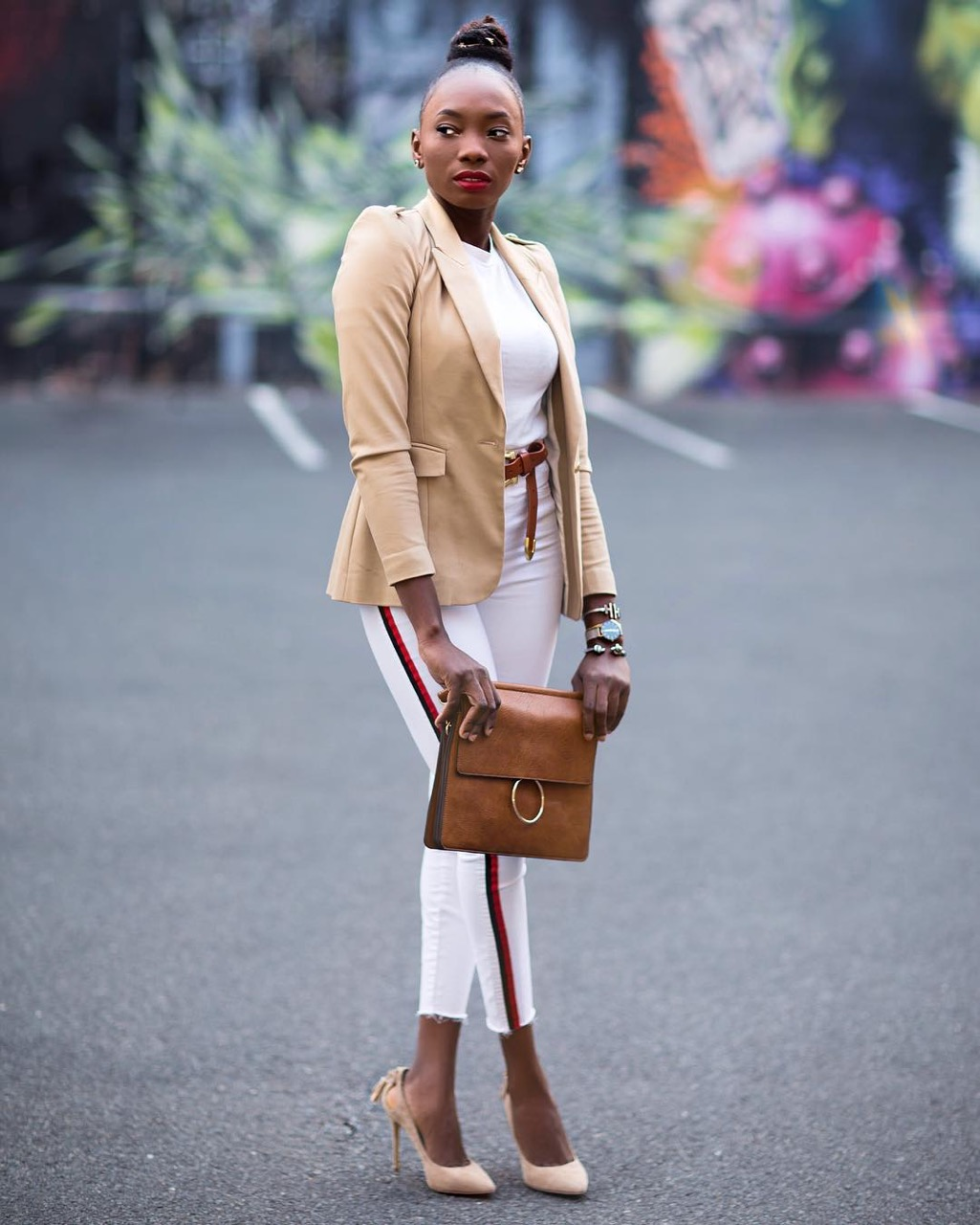 """Adelaide: Hannah, Fashion Blogger, """"Can never go wrong with neutrals."""" Photo: Raine."""