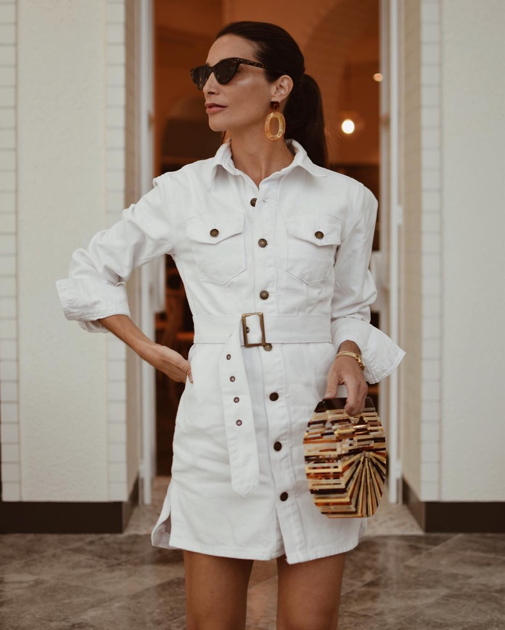 "Melbourne: Klara, Fashion Blogger, The Glen Shopping Centre, ""White. Crisp. Denim."""