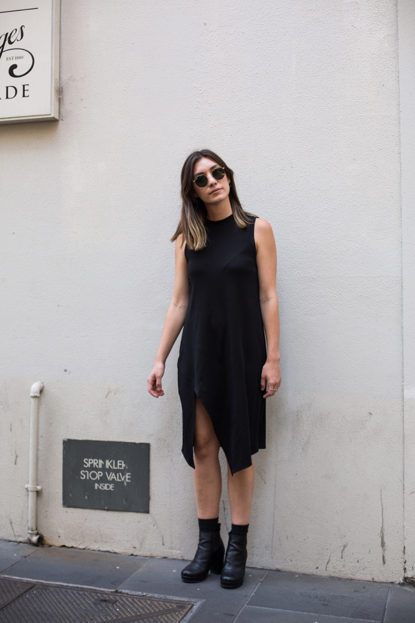 "VIC: Sophie Kuceli, Little Collins St, Melbourne. ""Minimal."" Photo: Zoe Kostopoulos"