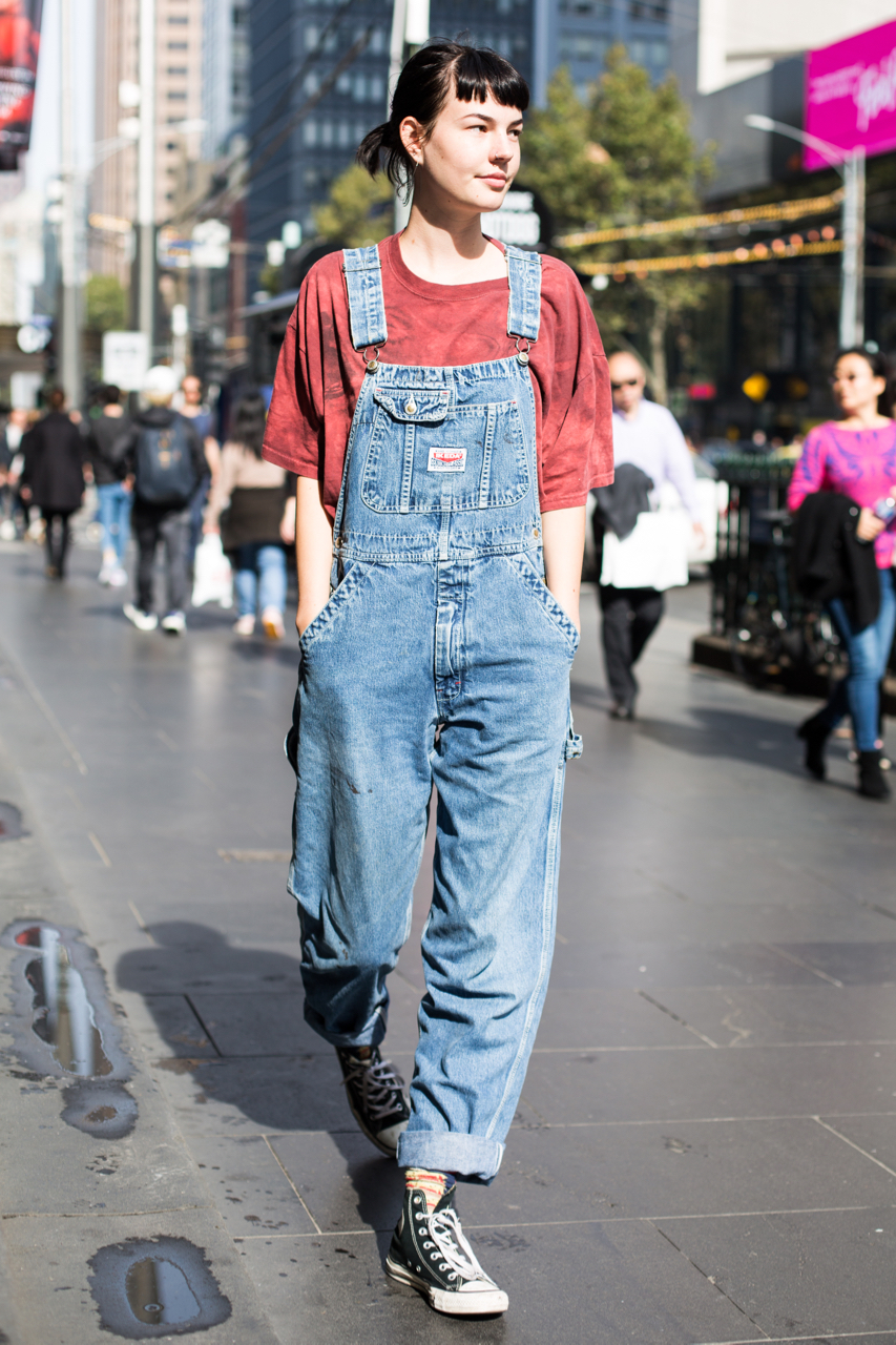 "VIC: Yolana Scholz Vinali, Student, Bourke St, Melbourne. ""I try to wear clothes that I don't mind getting paint on."" Photo: Zoe Kostopoulos"