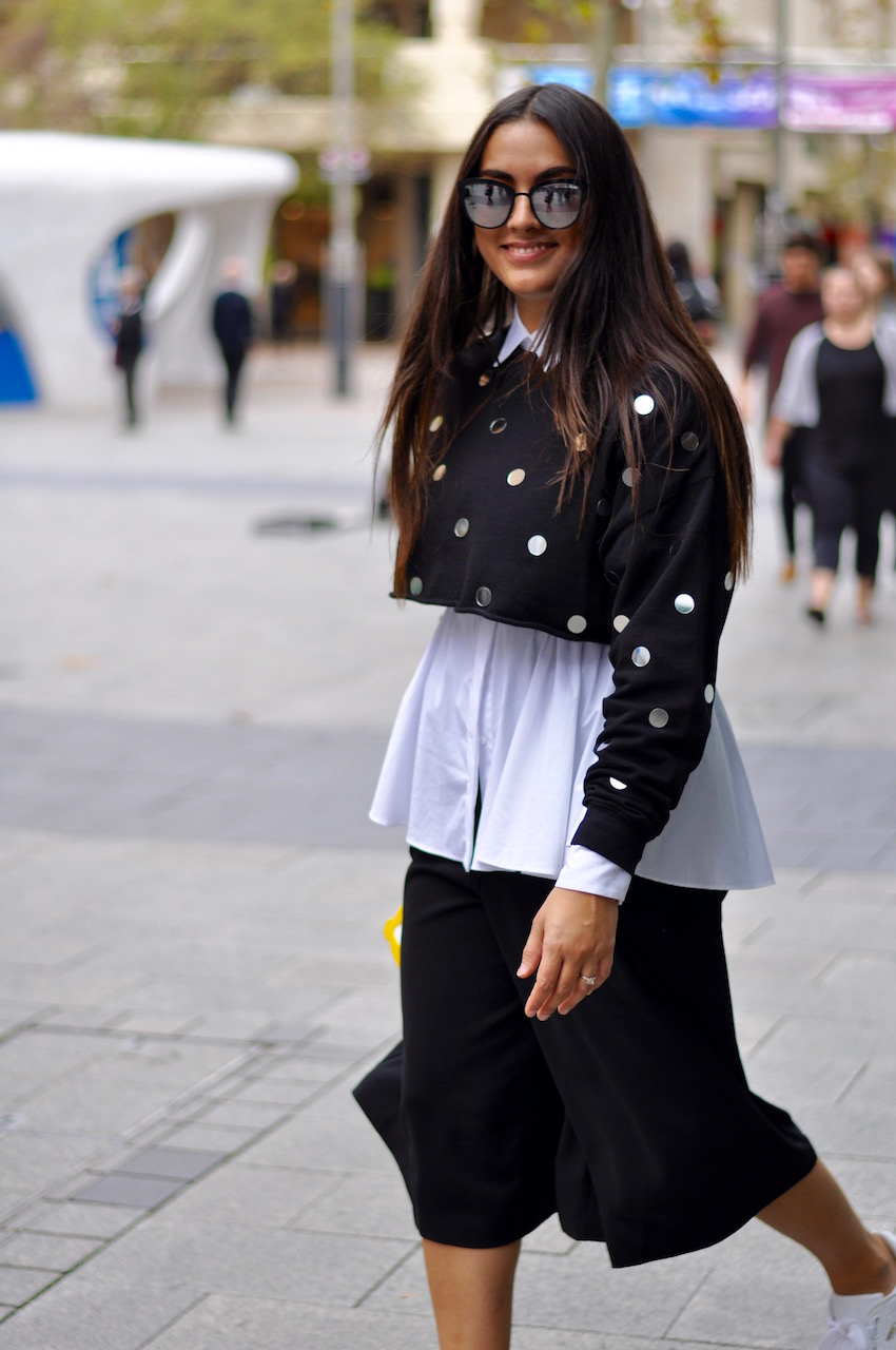 "WA: Zoe Van Zanten, stylist and fashion writer, Murray St, Perth. ""I'm sourcing for a photo shoot this week."""