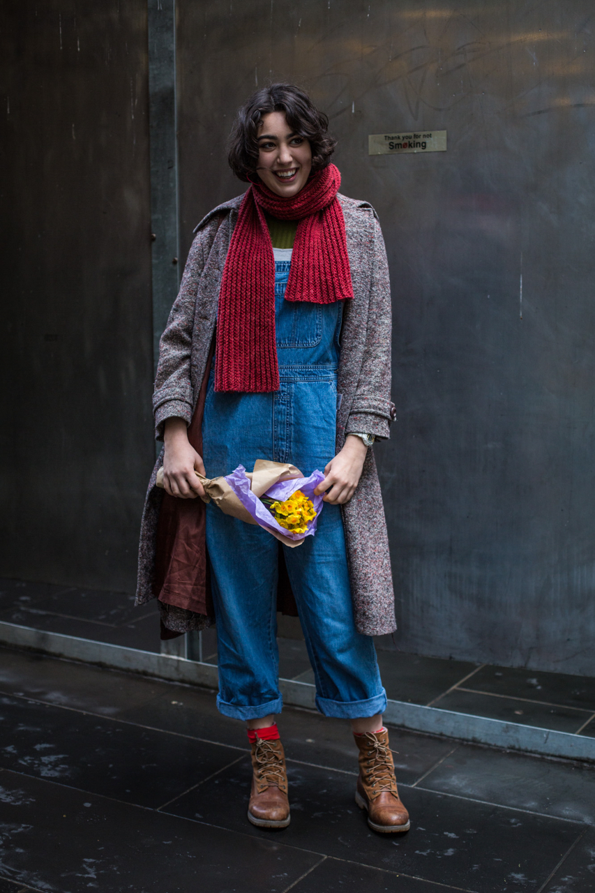 "VIC: Lili Gy-Goddard, student, Melbourne CBD. ""Dress to show love and feel in love!"" Photo: Zoe Kostopoulos"