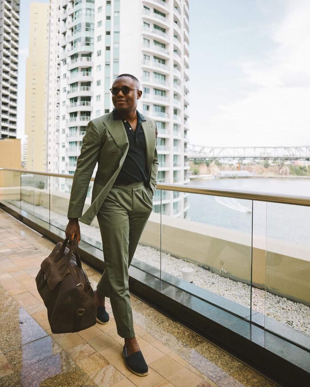 """Brisbane: Mayowa, Content & Marketing, """"Checking in for a little staycation with Brisbane Marriott in one of the newly renovated suites. Any reason for another holiday is good enough."""" Photo: Simon Kim."""