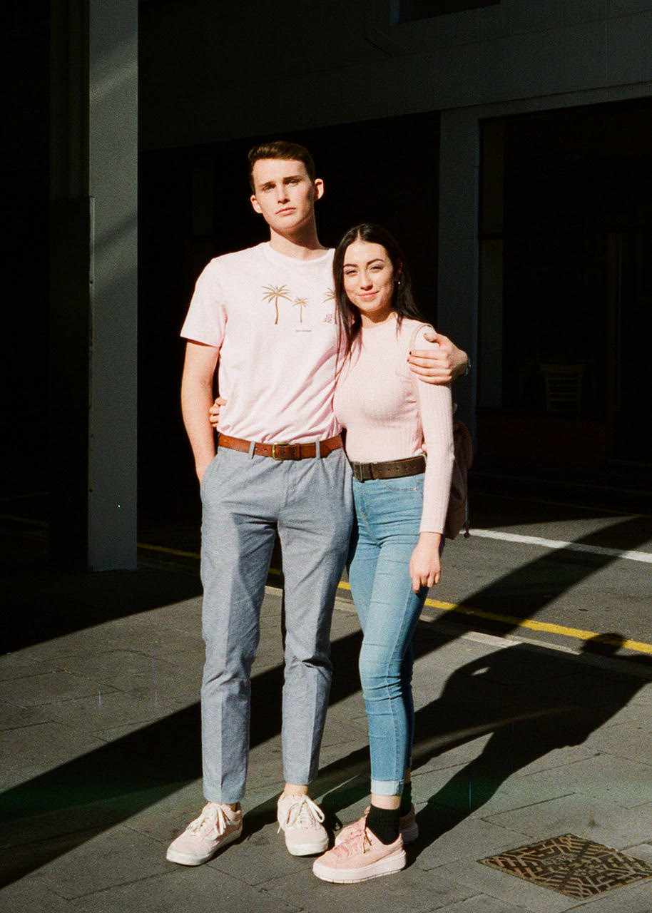 "Conor Bond & Aranza Figueroa, <a href=""http://www.rundlestreet.com.au/"" target=""_blank"">Rundle St East</a>, Adelaide. ""This wasn't planned."" Photo: Dylan Starczak"