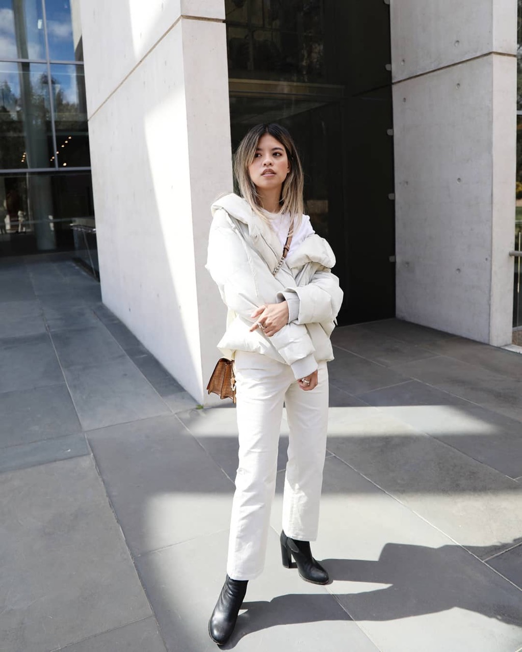 "Canberra: Leanne, Style Blogger, ""Loving winter whites."""