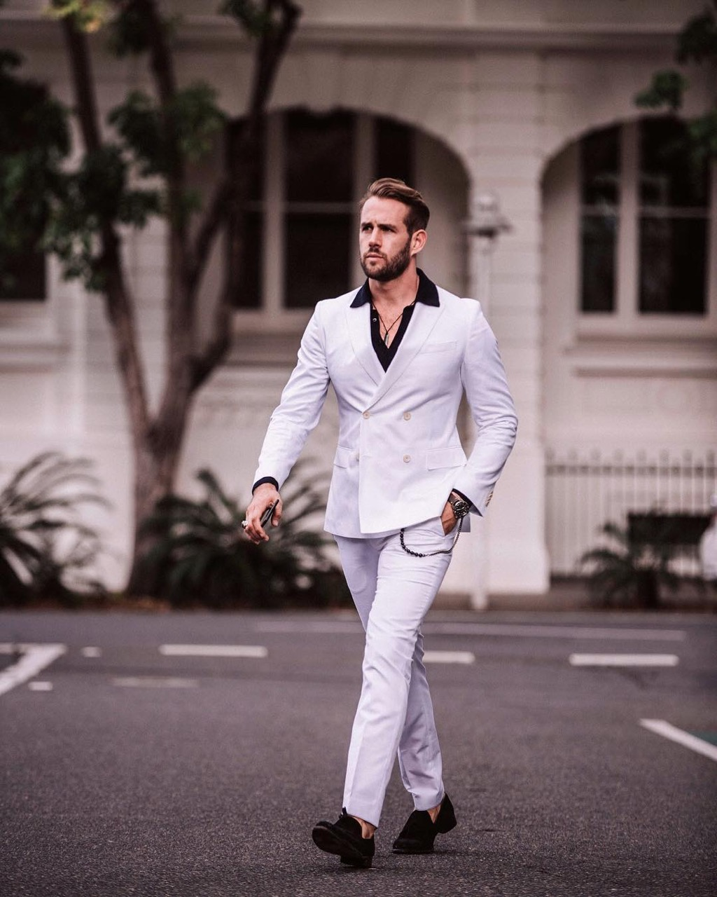 "Brisbane: Shaun Birley, E-Com & International Fashion Distributor: ""A double breasted suit perfect for summer."""