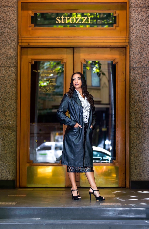 "VIC: Lora Bihan, Tourism & Digital Marketing student, Collins St, Melbourne. ""Fierce and innocent."" Photo: Stan Traianedes"