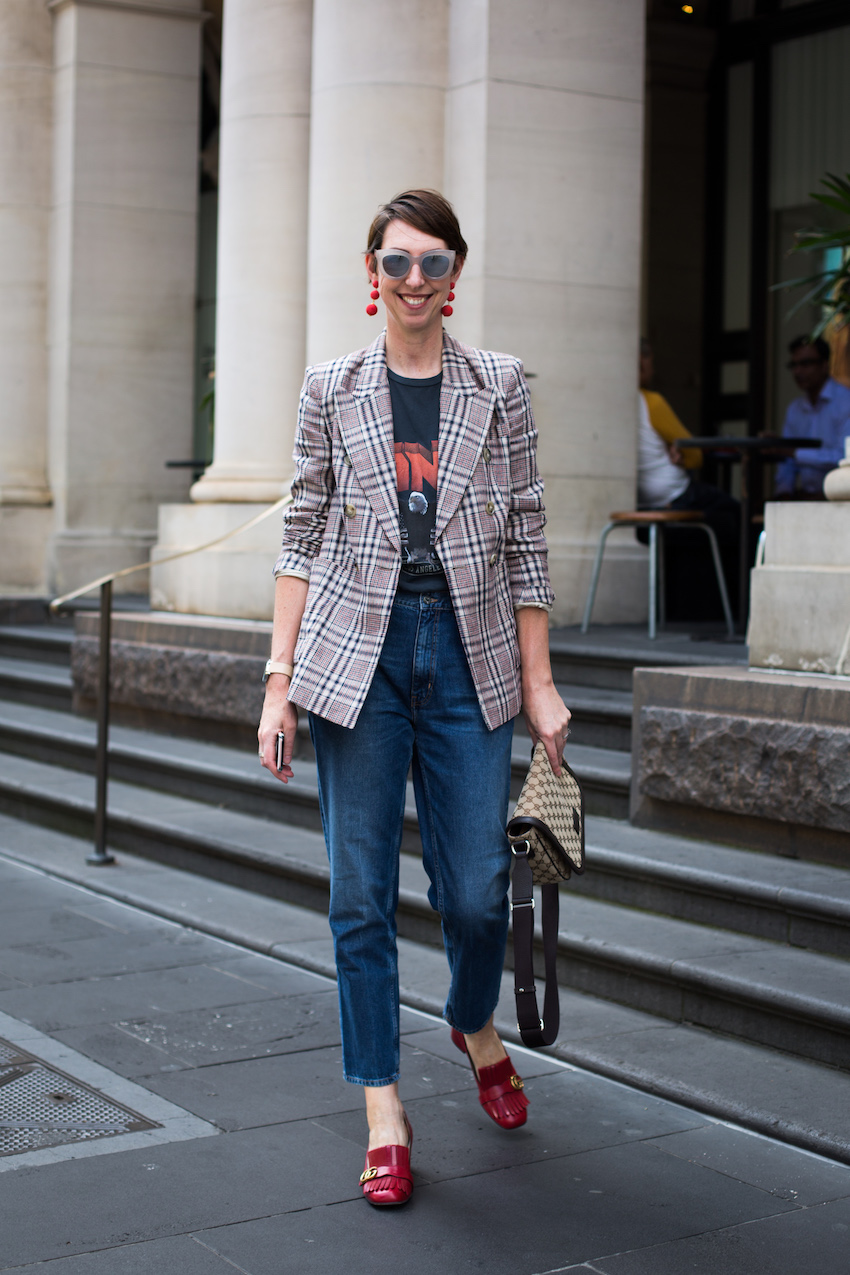 "Vic: Sally Mackinnon, Stylist & Personal Shopper, Bourke St, Melbourne.""I'm starting to experiment with statement sunglasses."""