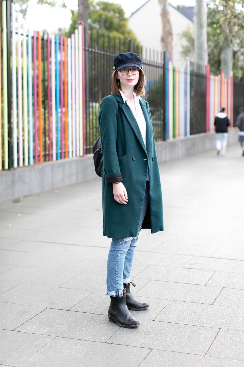 Street Style Australia - Sydney: Emma Throssell, Student, Glebe Point Road, Glebe. Photo: Maree Turk.