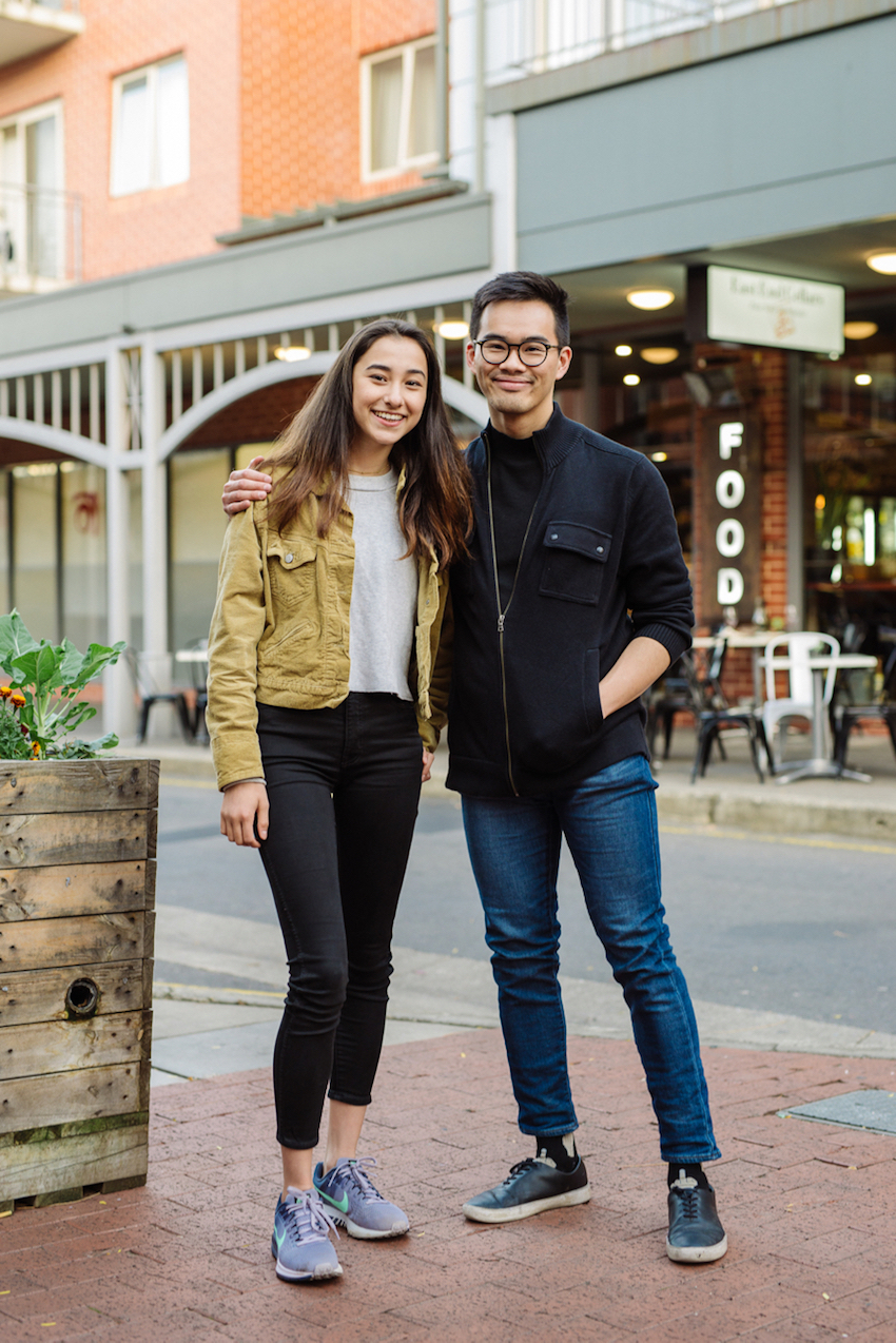 "SA: Izzy Mollicone, Student and Henry Thong, Filmmaker. I: ""Casual and comfortable for Autumn."" H: ""When it isn't appropriate or convenient to suit up I find turtlenecks are a great way to keep things casual while maintaining that dressed-up look."""