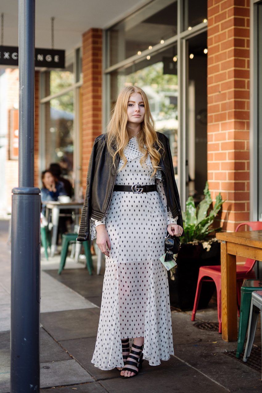 "SA: Tahlia Strawbridge, Student,<a href=""http://www.rundlestreet.com.au/"" target=""_blank"">Rundle St East</a>, Adelaide. ""My favourite trick when getting  dressed for winter is to mix texture."""