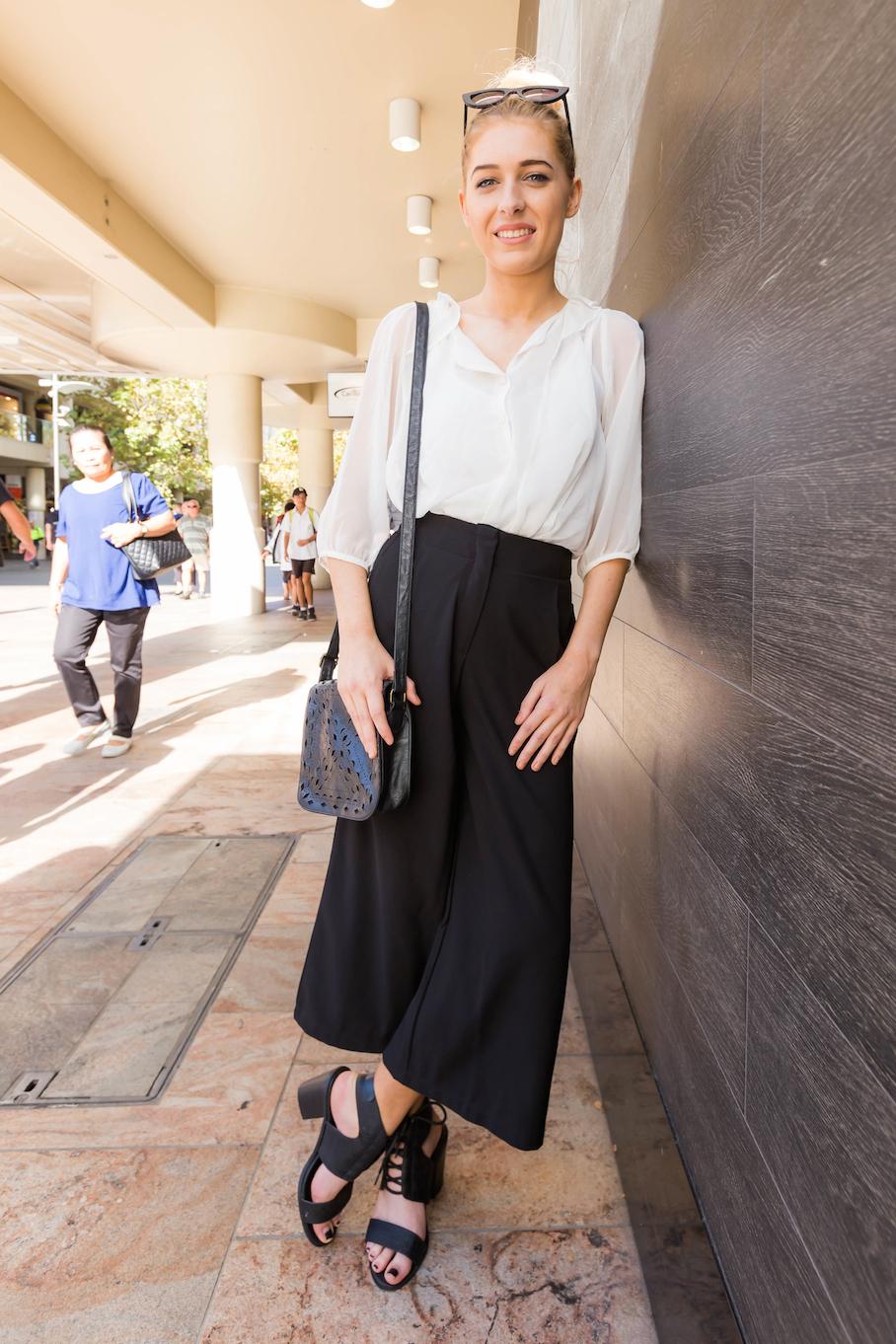"WA: Ciara Delaney, Cashier, Perth city. ""My style? I have no idea."" Photo: <a href=""http://www.rahstudios.com.au/street-style.html/"" target=""_blank"">Alain Quah</a>"
