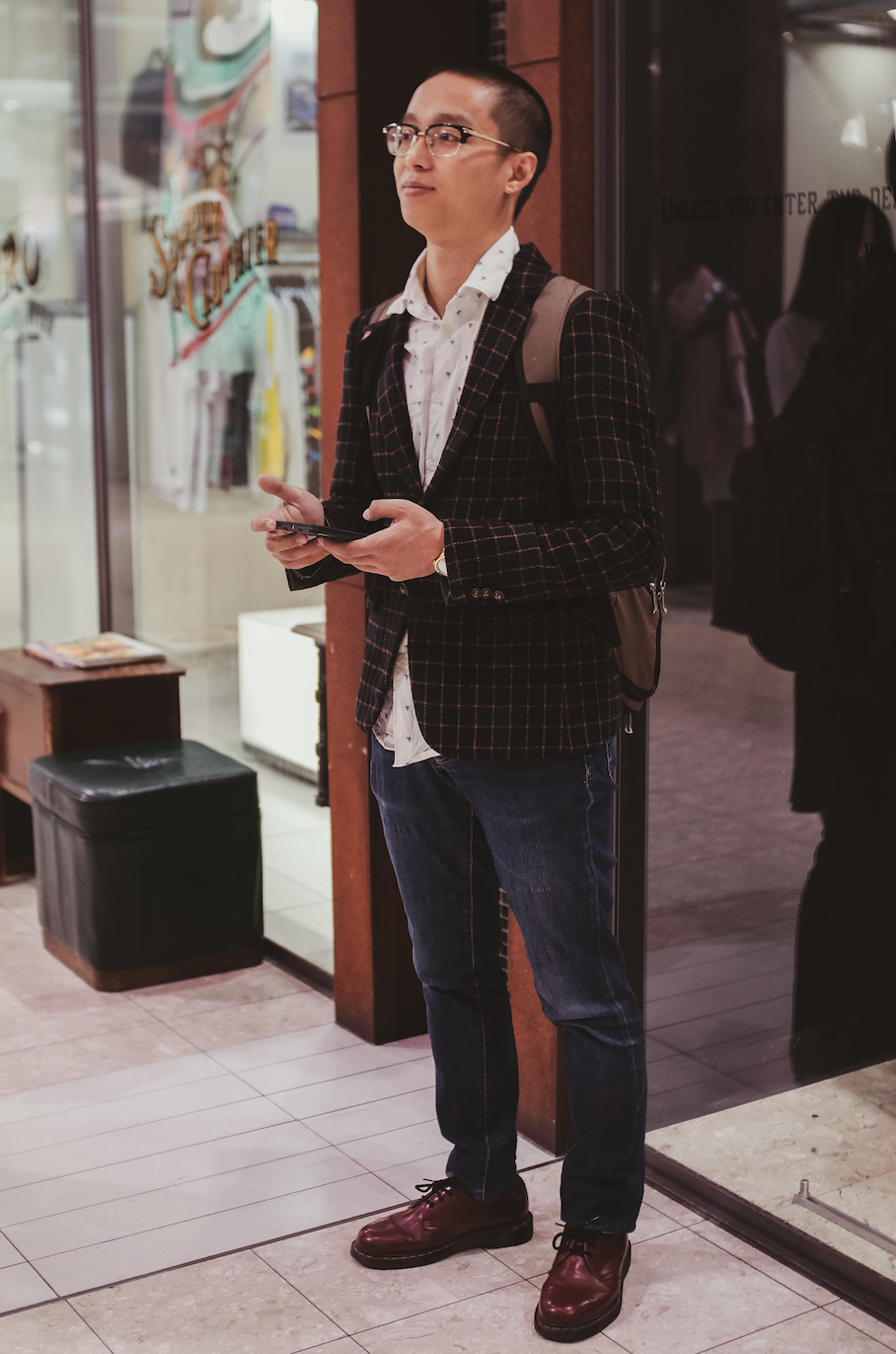 SA: Vernon, Student, Regent Arcade Adelaide. Photo: Morgan Sette