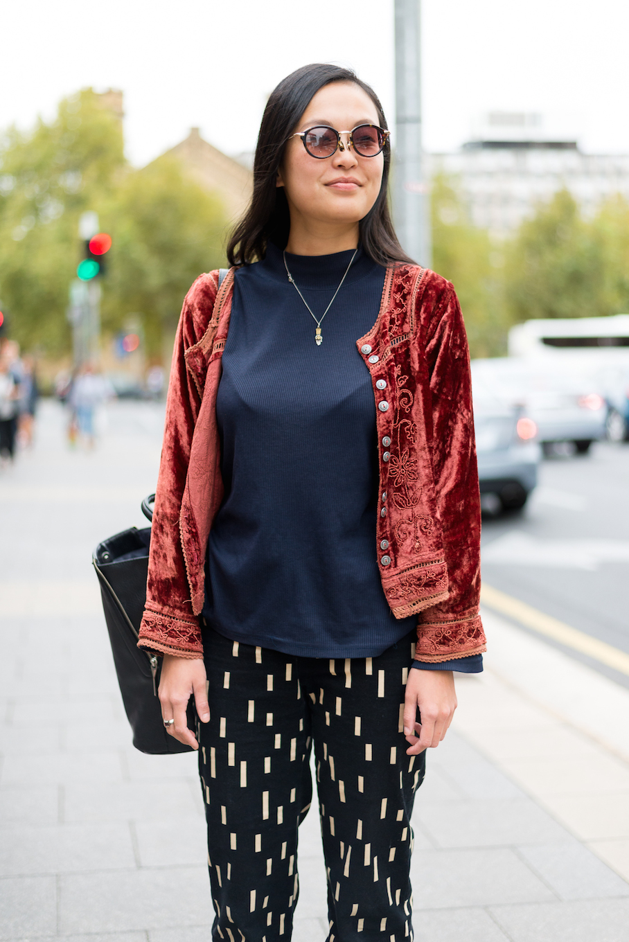 "SA: Rujing, Student, North Terrace, Adelaide. ""I have a love of vintage clothing."""