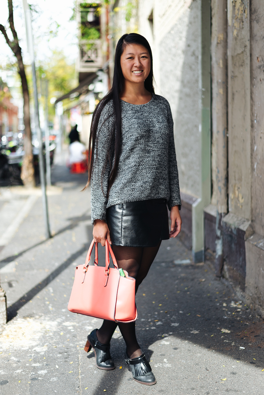 "SA: Christina Lien, Rundle Street, Adelaide. ""I've bought a lot of my stuff in London."""