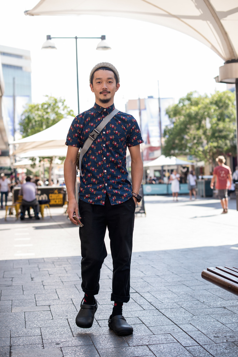 "NSW: Kyota Haruki, Kitchen Hand, Bondi Junction. ""Yes I'd tell you what I'm wearing if I knew."" Photo: <a href=""http://frederiquemadi.com/"" target=""_blank"">Frédérique Madi </a>"