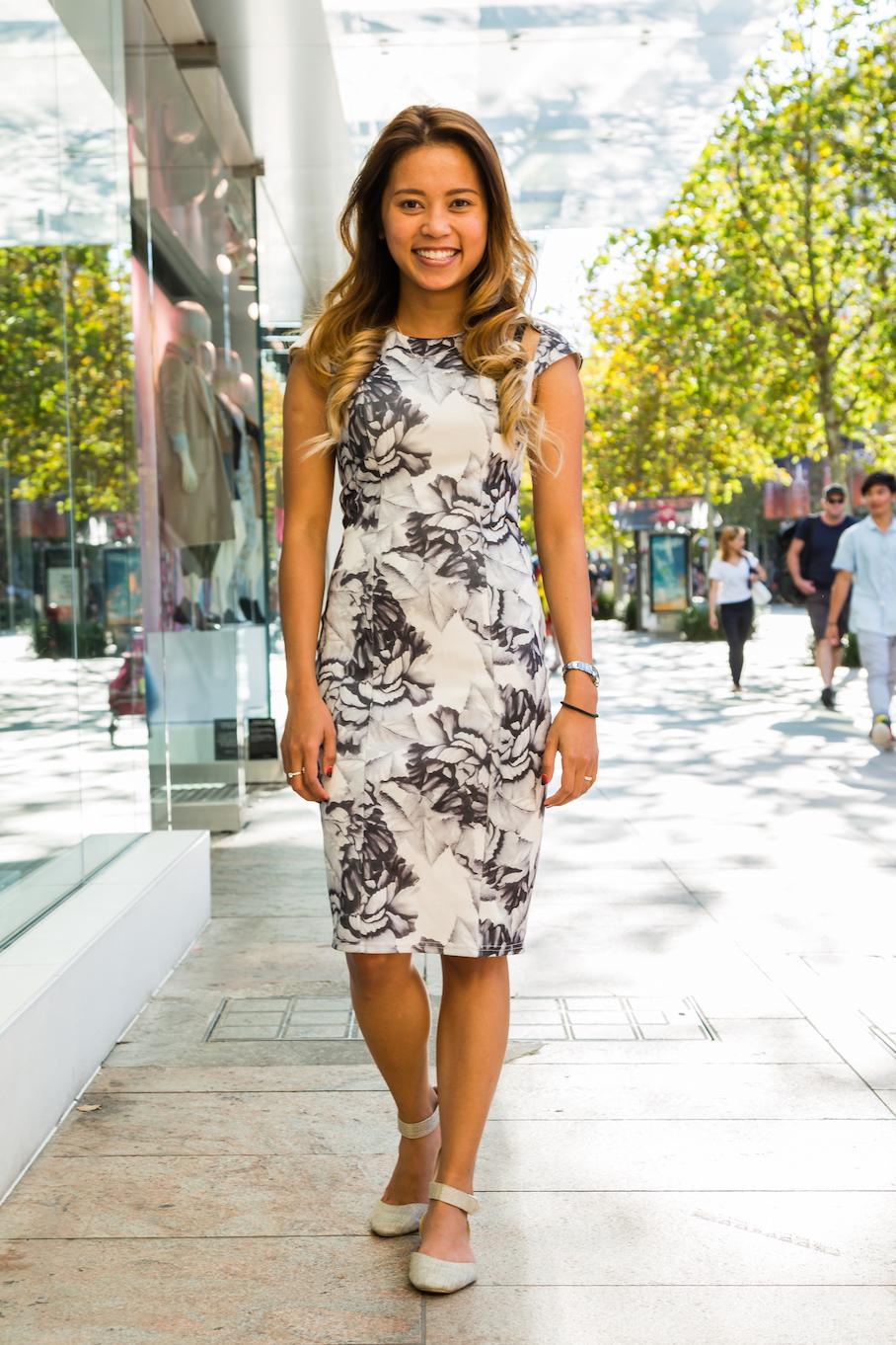 "WA: Dollvina Van Luyn, Make-Up Artist, I love body con dresses that can enhance my figure."" Photo: <a href=""http://www.rahstudios.com.au/street-style.html/"" target=""_blank"">Alain Quah</a>"