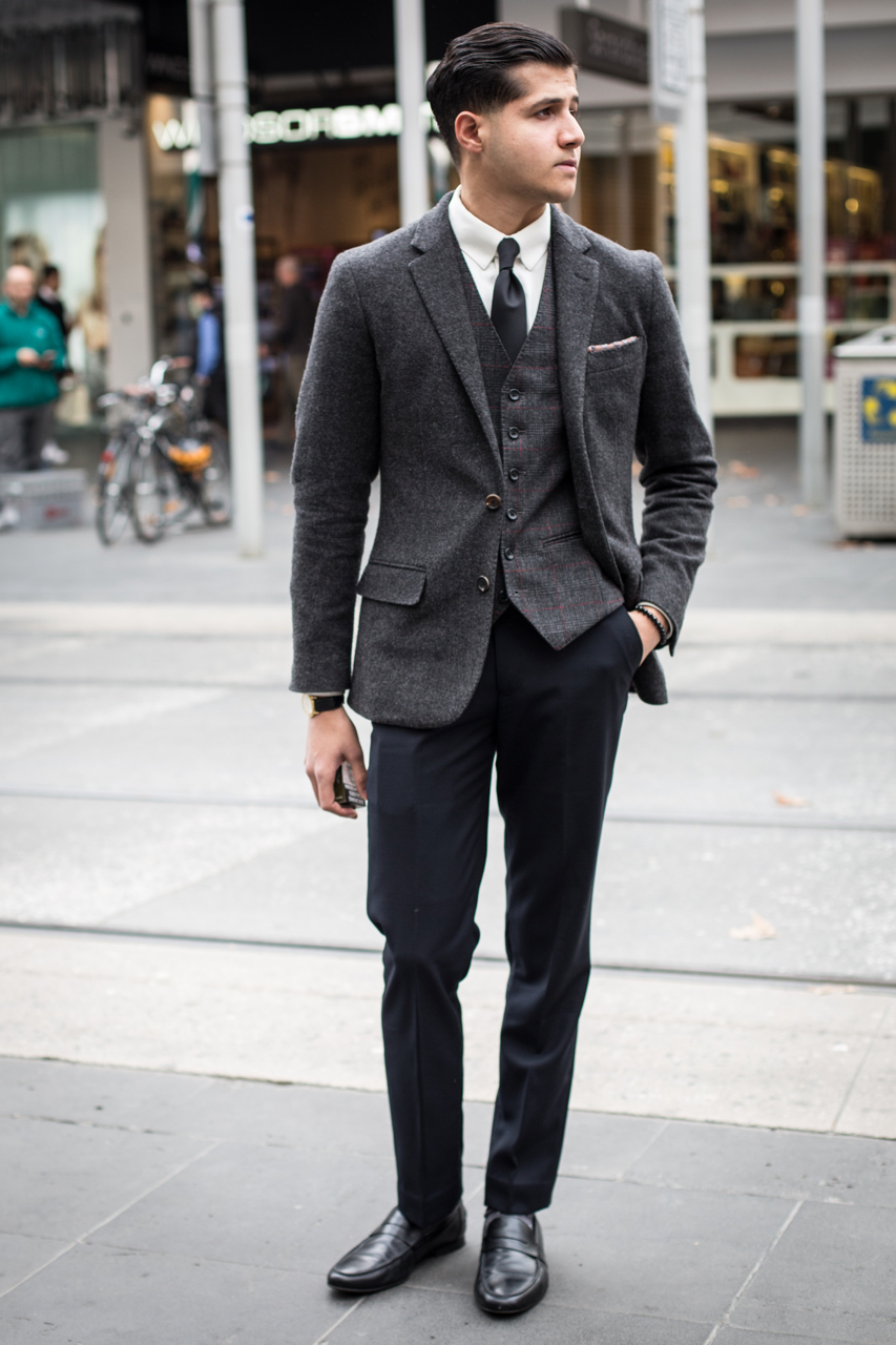 VIC: Rameez Baggia, menswear salesman, Bourke St. Photo: Zoe Kostopoulos