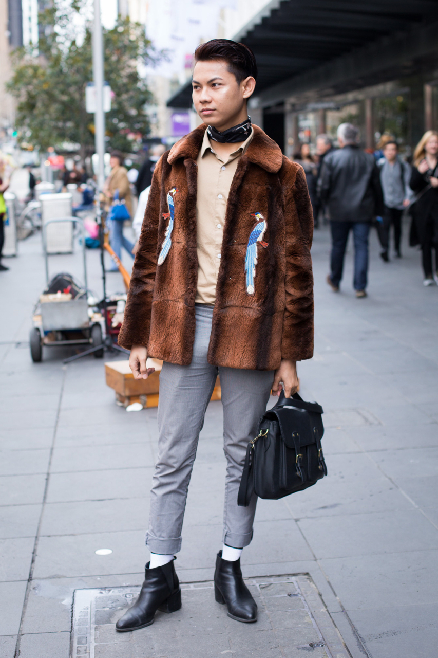 "VIC: Ari, student, Melbourne. ""I am eclectic. I can be chic or freak."""