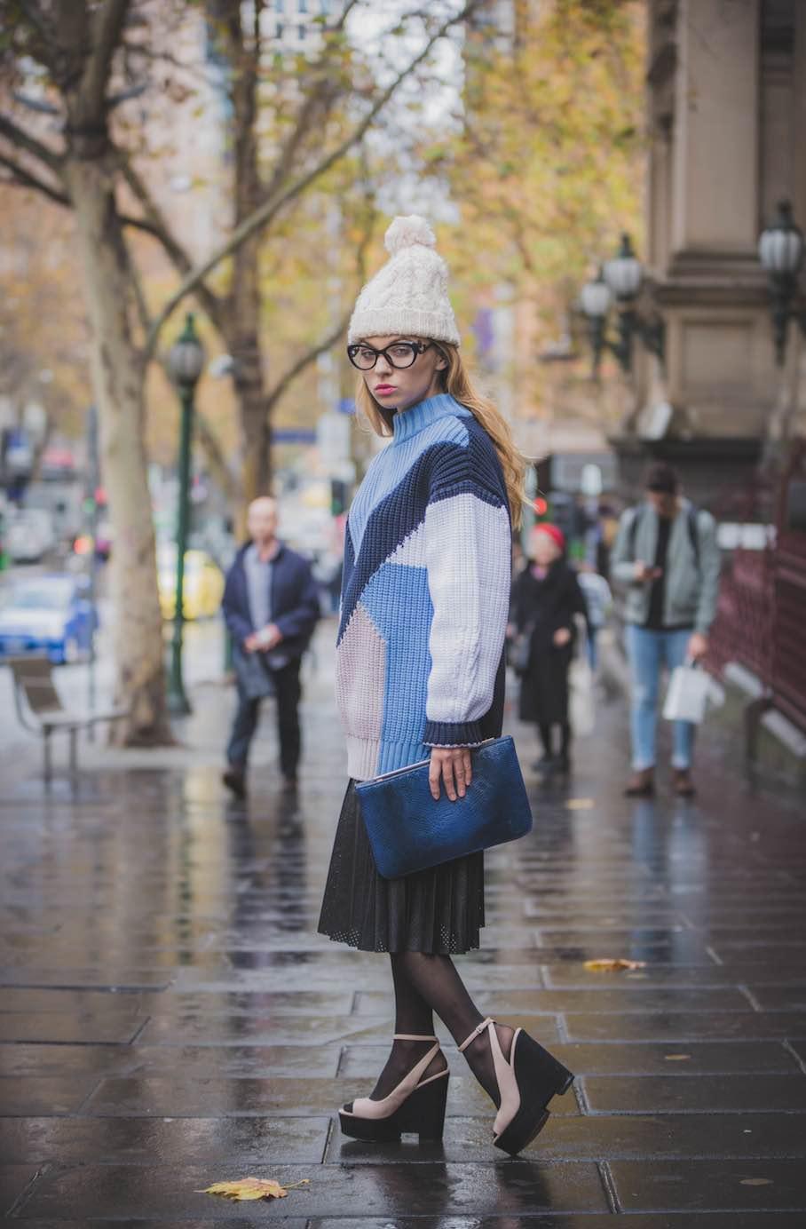 "Vic: Anastasia Shuvalova, Make-up Artist, Melbourne. ""I really like streetstyle photography and the fashion industry."" Photo by: Medi Desu"