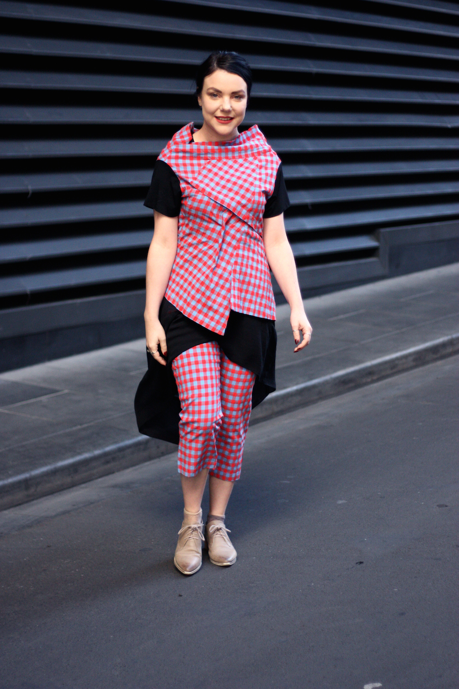 """Vic: Natalie Routen,  Retail Manager, Little Bourke St. """"I dress for how I feel today. I love embracing my eclectic side!"""" <a href=""""http://www.marythamphotography.weebly.com/"""" target=""""_blank""""> Photo: Mary Tham </a>"""